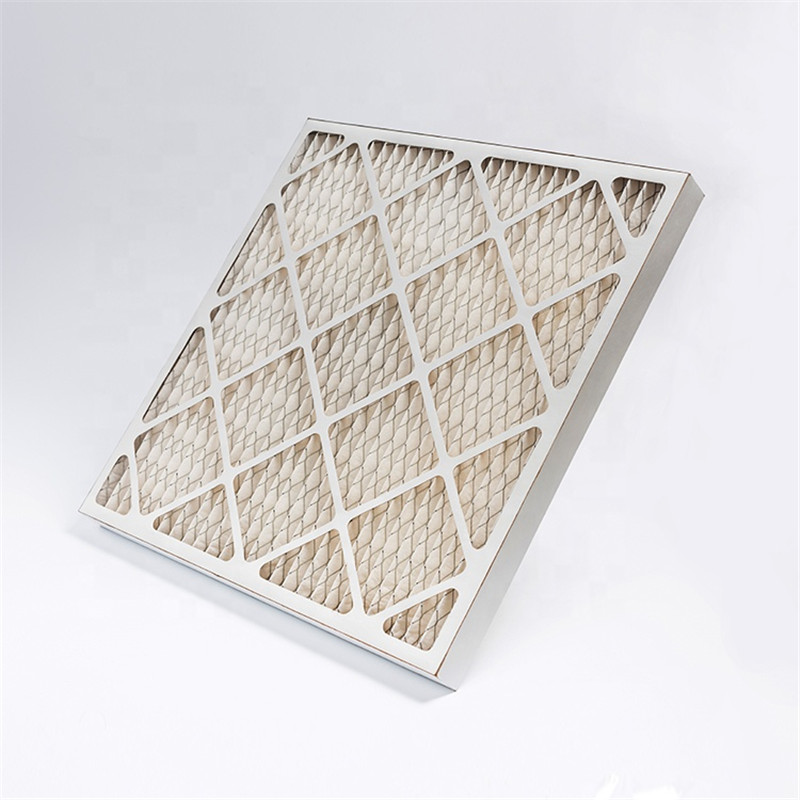 G3 G4 Cardboard Frame Pleated Type Pre air filter