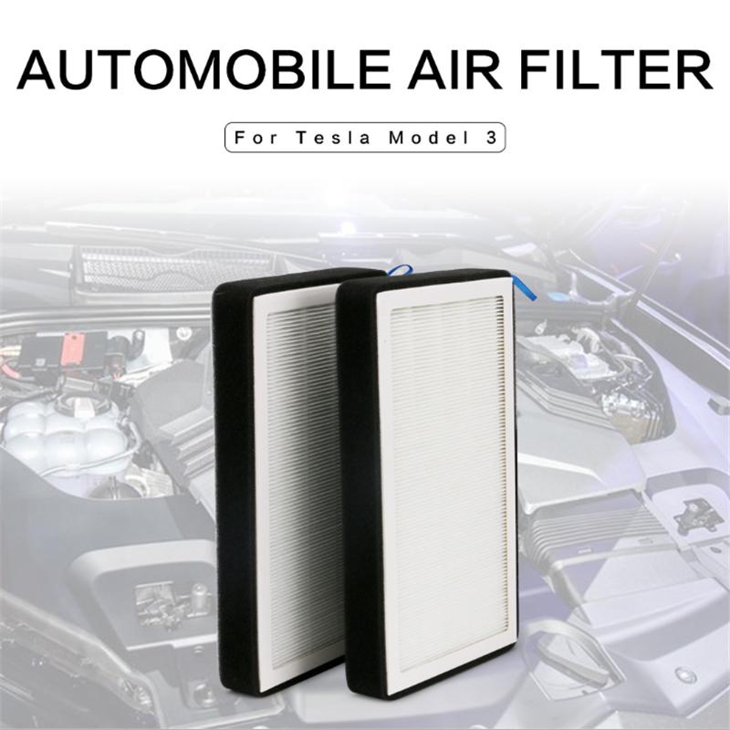 Pogodno za Tesla model 3 Y klimatizacijski filter s aktivnim ugljenom kao dodatak mreži mrežnog filtera PM2.5 HEPA